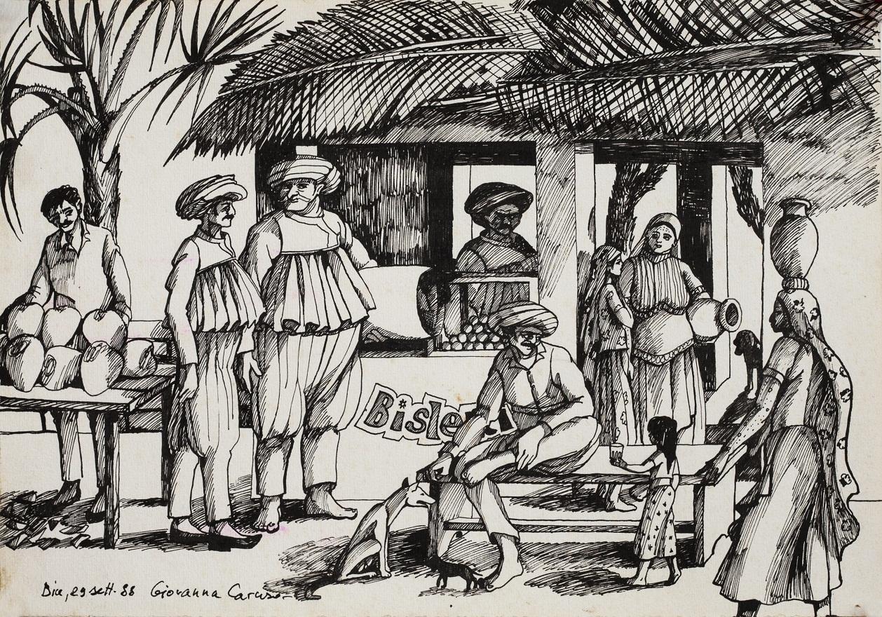 Meringoniland, Ink, 36×25 cm