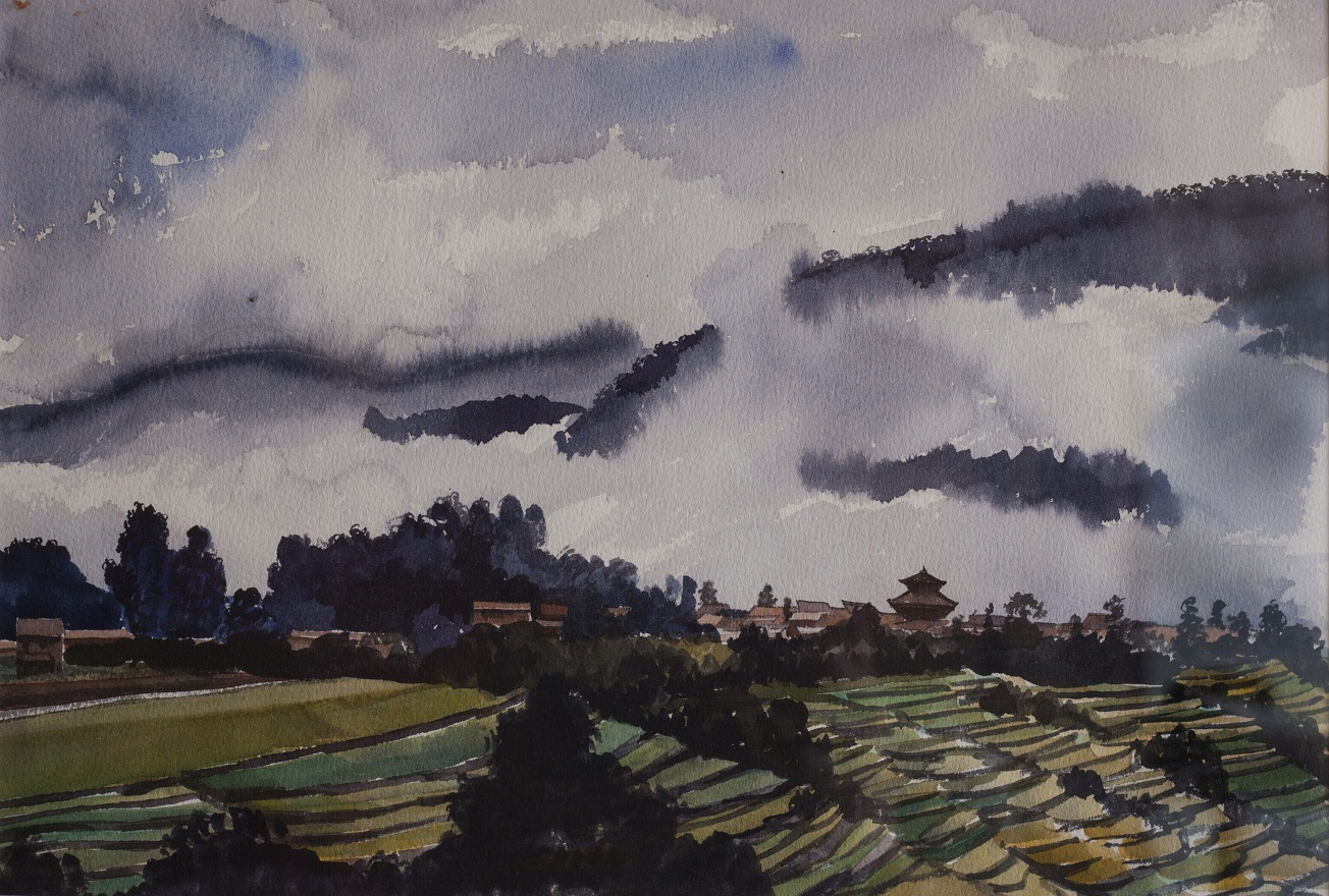 Don't miss Kokhana in a foggy morning, Watercolor, 25×36 cm