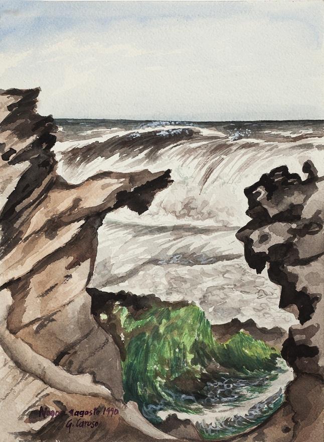 Ancora un'onda, Watercolor, 23×31 cm