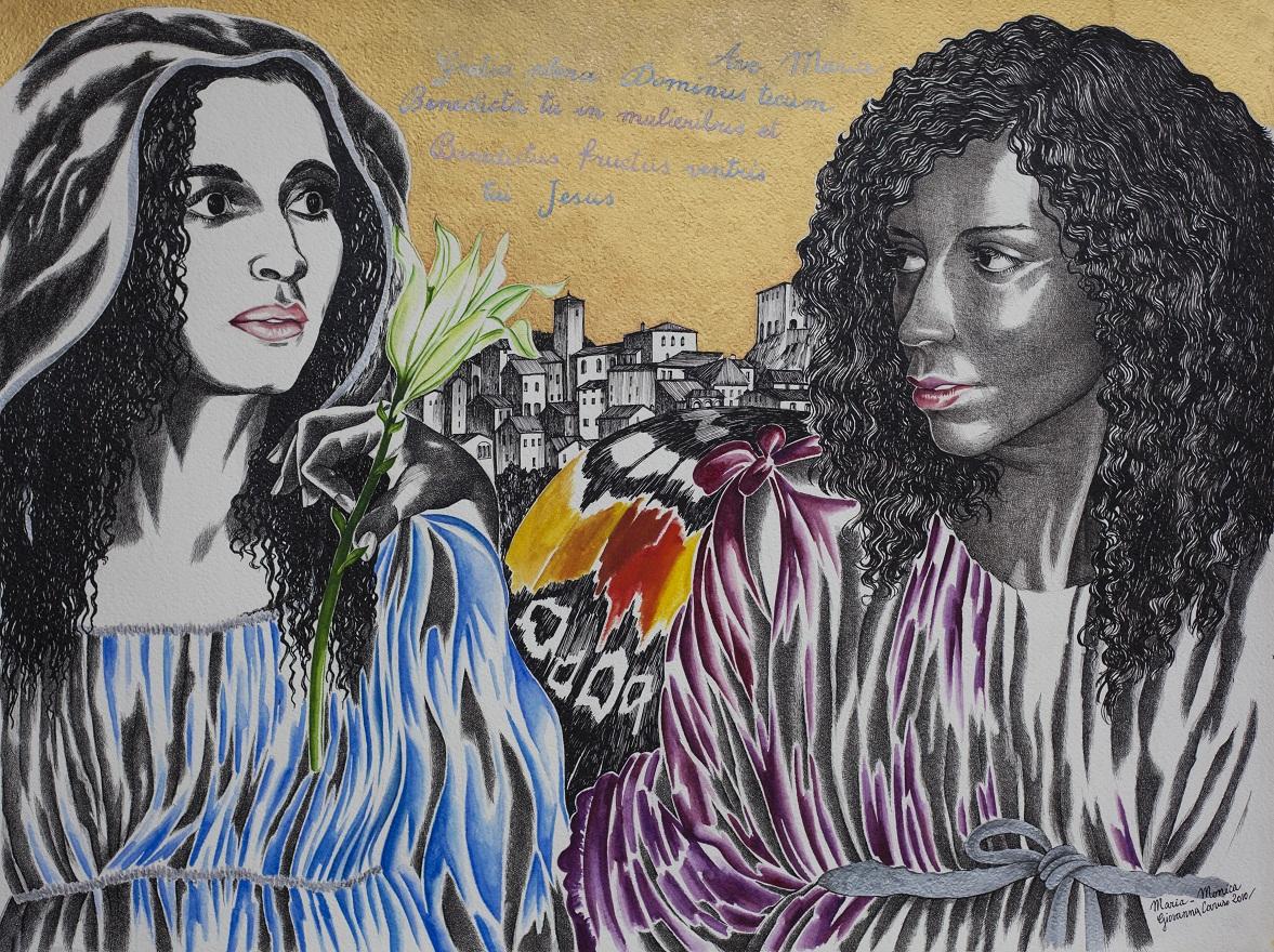 Maria, Watercolor+Ink, 46×72 cm