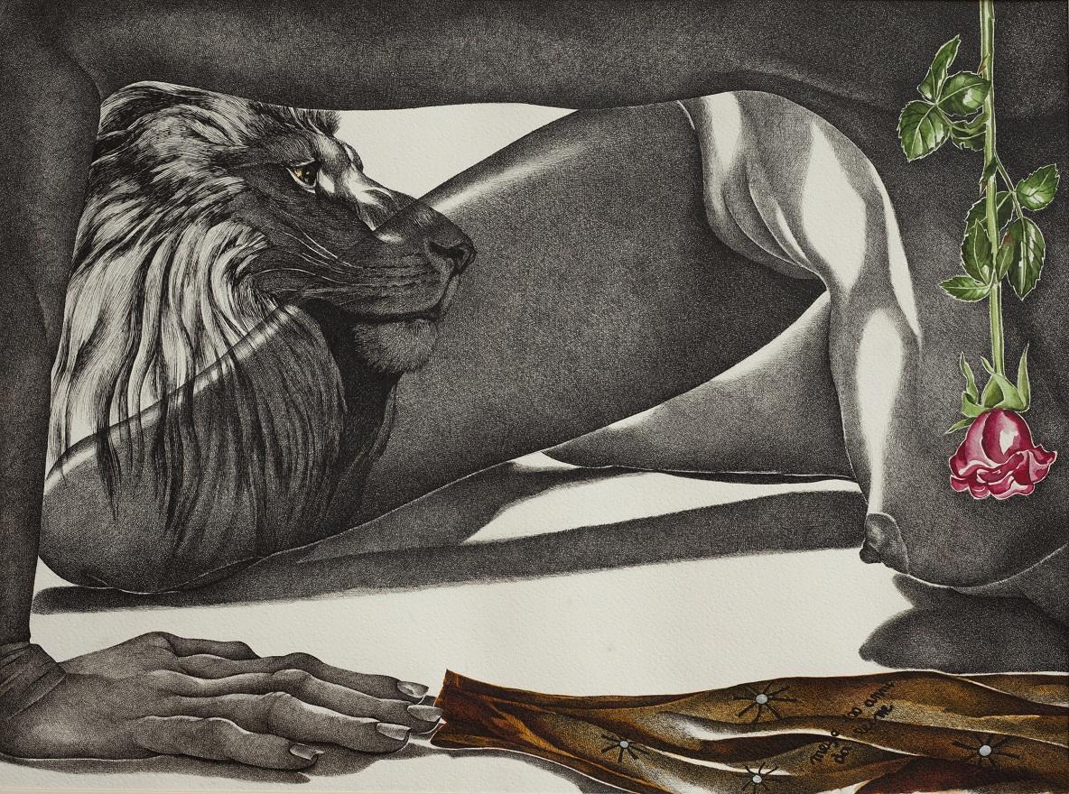 Meglio 100 giorni da leone, Watercolor+Ink, 46×72 cm