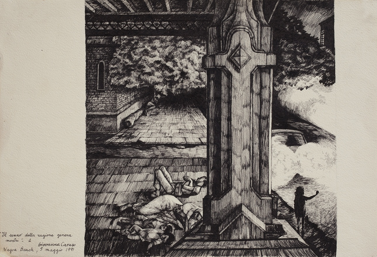Il sonno della ragione genera mostri 0.1, Ink, 23×31 cm