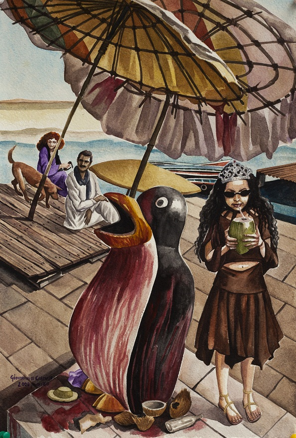 Varanasi New Age, Watercolor, 31×46 cm