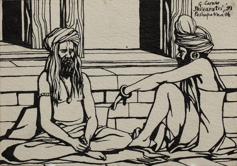 Serie Shivaratri 0.3, Ink, 12×18 cm