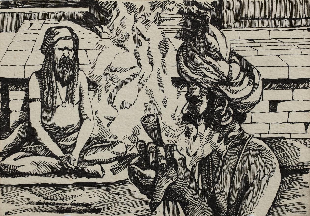 Serie Shivaratri 0.4, Ink, 12×18 cm