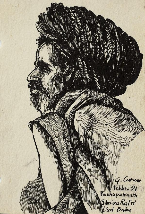 Serie Shivaratri 0.5, Ink, 12×18 cm