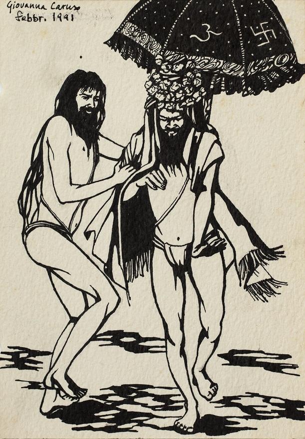 Serie Shivaratri 0.6, Ink, 12×18 cm