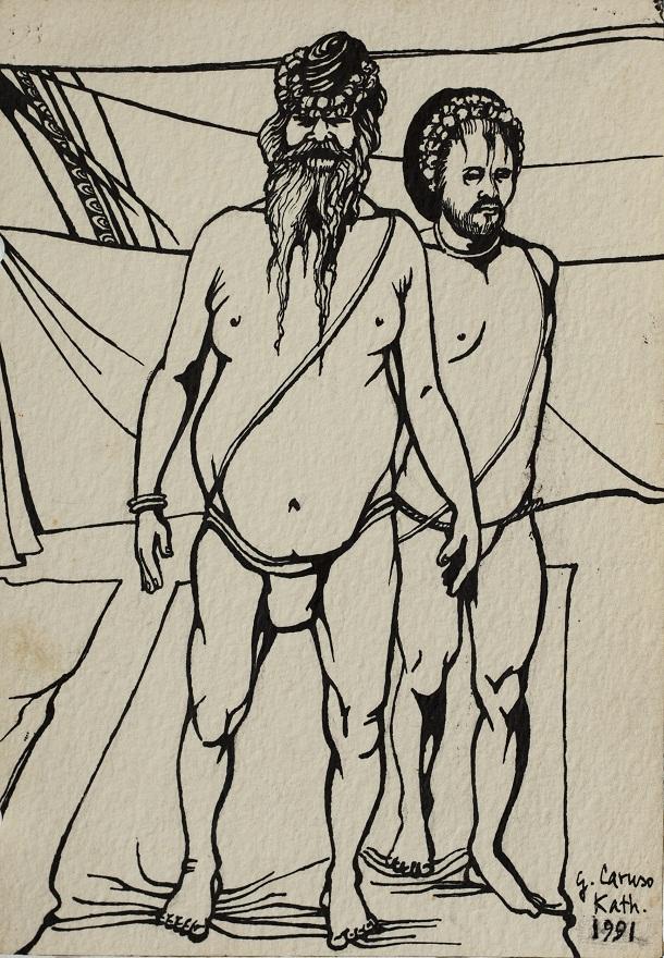 Serie Shivaratri 0.7, Ink, 12×18 cm