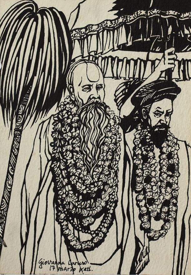 Serie Shivaratri 0.8, Ink, 12×18 cm