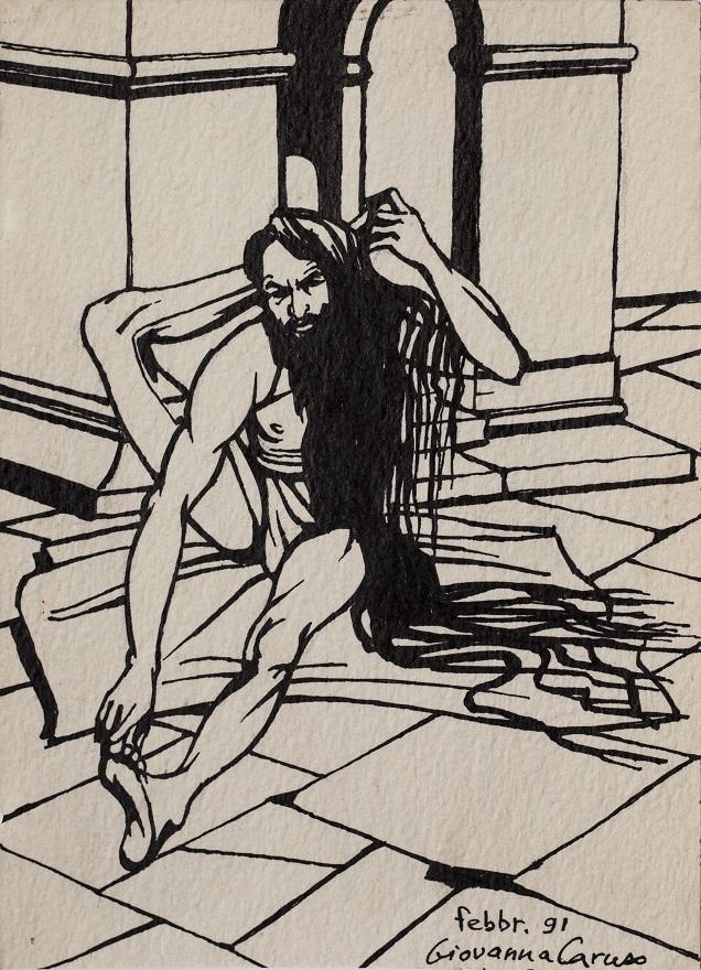 Serie Shivaratri 0.9, Ink, 12×18 cm