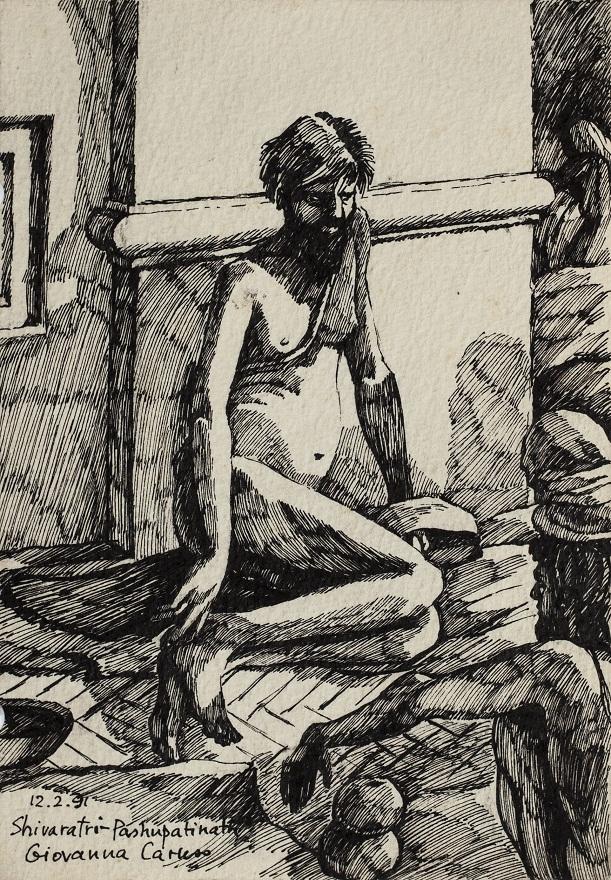 Serie Shivaratri 0.11, Ink, 12×18 cm