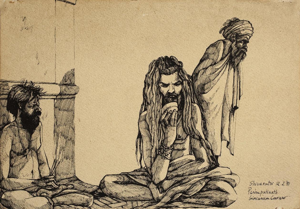 Babas, Ink, 36×25 cm