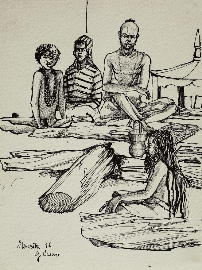 Shivaratri 1996, Ink, 23×31 cm