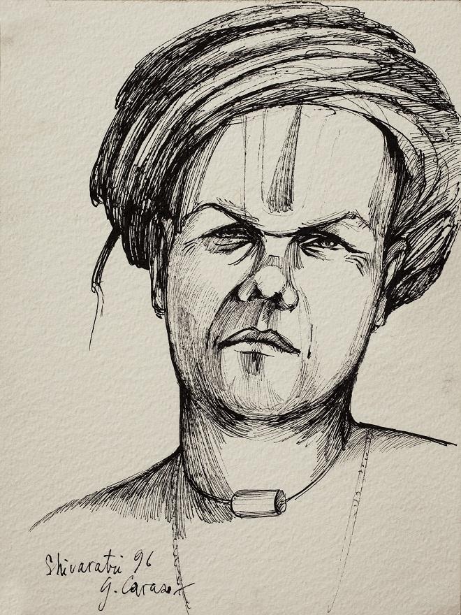 Shivaratri 0.1 1996, Ink, 23×31 cm