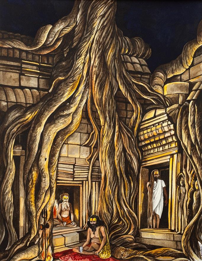 Shivaratri 1996 0.2, Ink, 23×31 cm