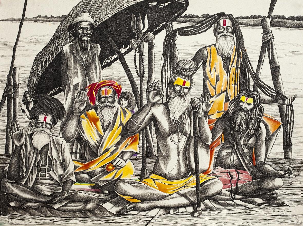 Shivaratri 1996 0.1, Ink, 23×31 cm