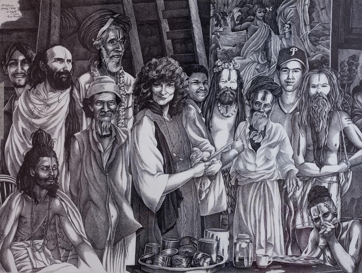 Baba ironunderwear, Watercolor, 46×72 cm