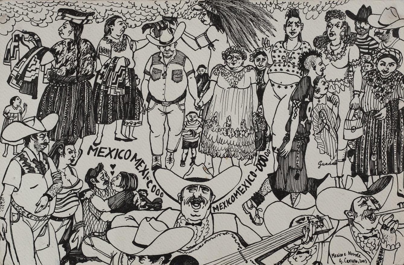 Mexico!, Ink, 35×23 cm