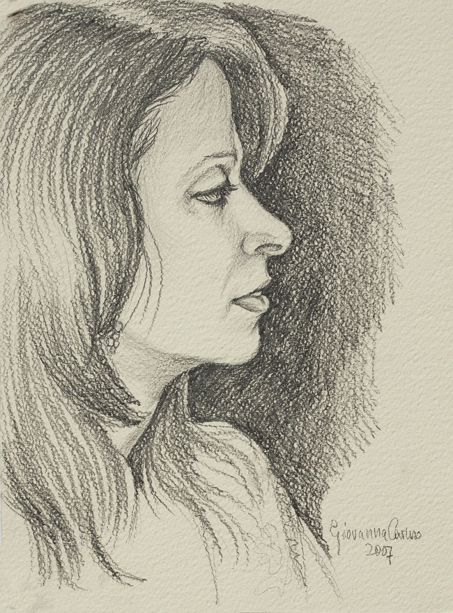 Tehnaz (sketch), Pencil, 23×31 cm