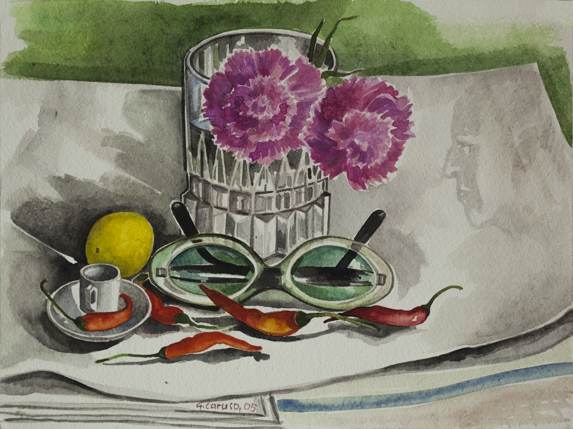Calcutta,my room 2, Watercolor, 31×22 cm