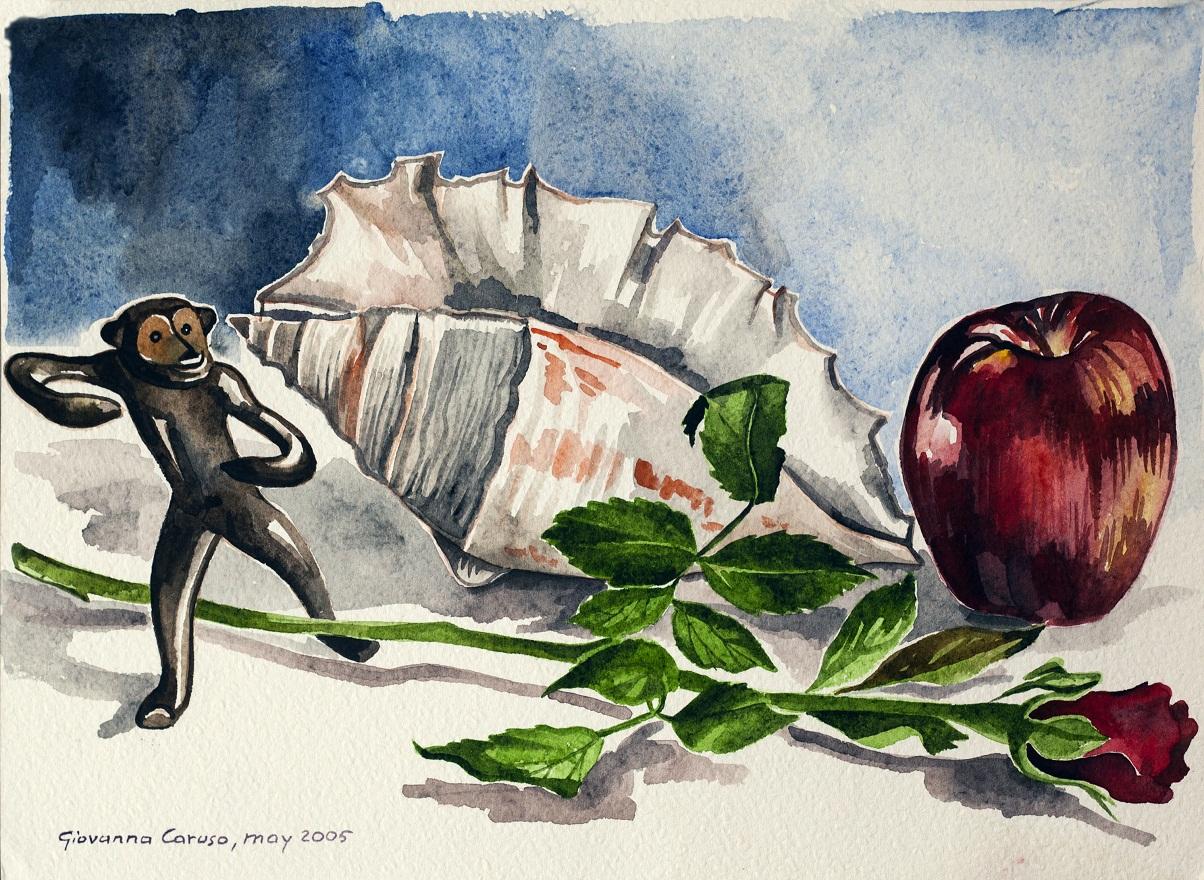 Calcutta,my room 3, Watercolor, 31×22 cm