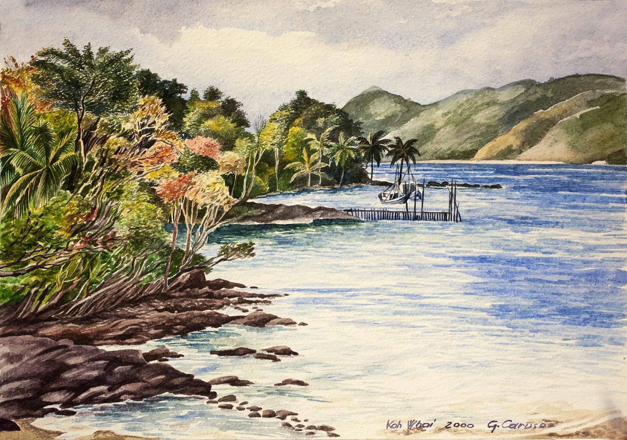 Kho Wai Island, Watercolor, 25×36 cm