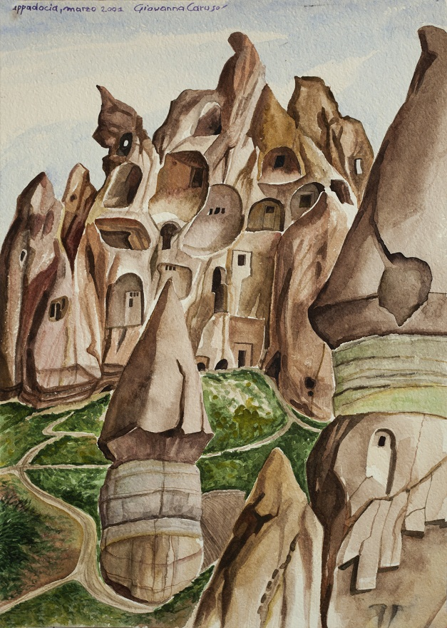 Goreme, Watercolor, 31×23 cm