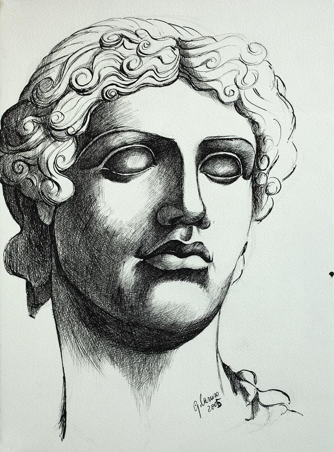 Testa, Ink, 28×38 cm