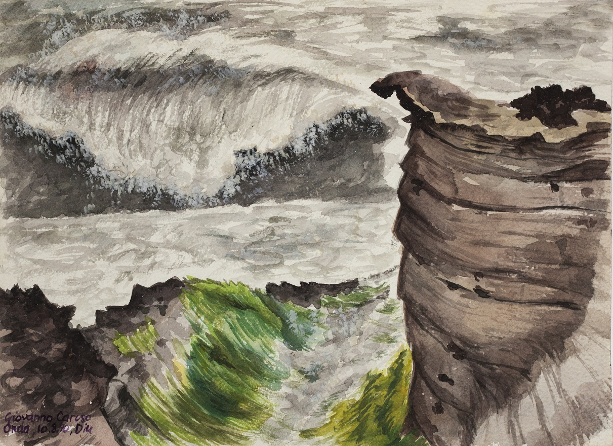 Nagoa: storm, Watercolor, 23×31 cm