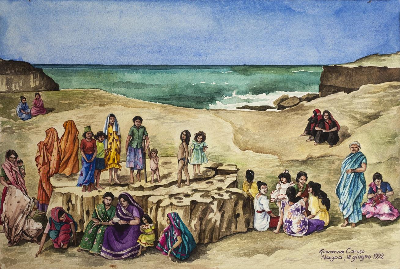Picnic, Watercolor, 46×31 cm