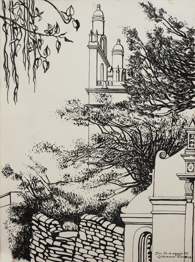 Cathedral (museum), Ink, 31×23 cm