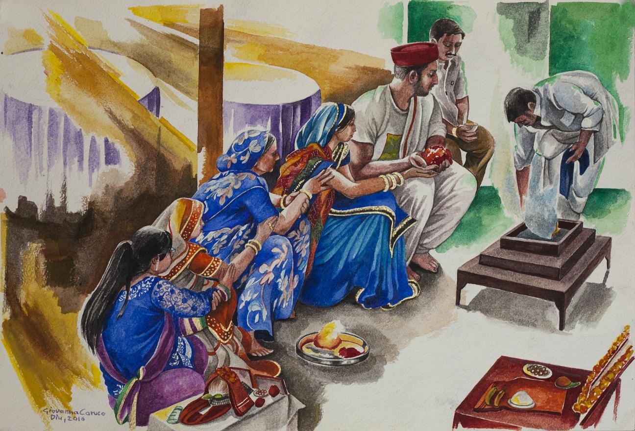 Sinfonia Ganga Sagar, Watercolor, 45×31 cm