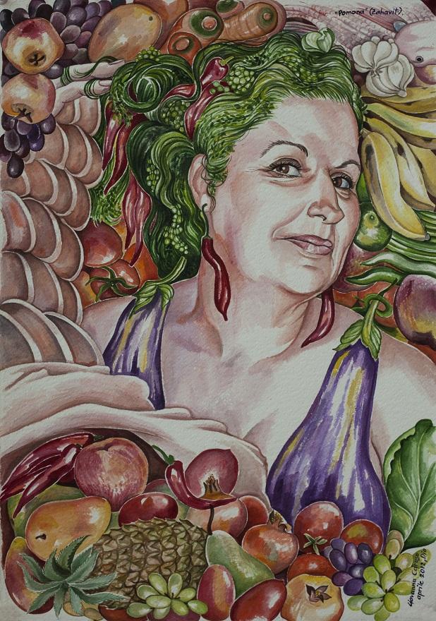 Pomona, Watercolor, 40×53 cm