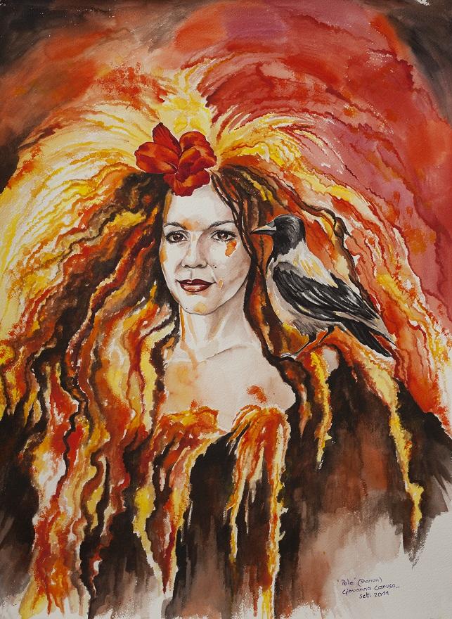 Pele, Watercolor, 74×66 cm