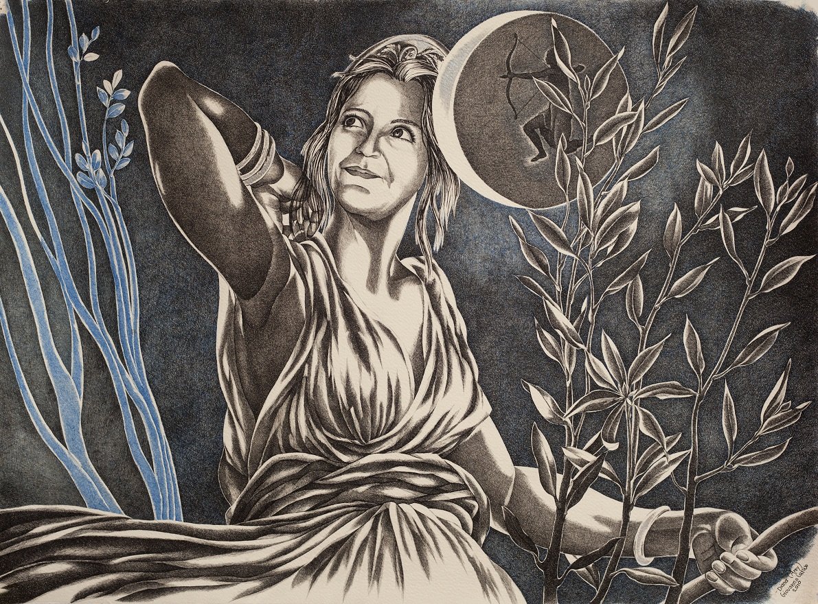 Diana, Ink, 56×76 cm