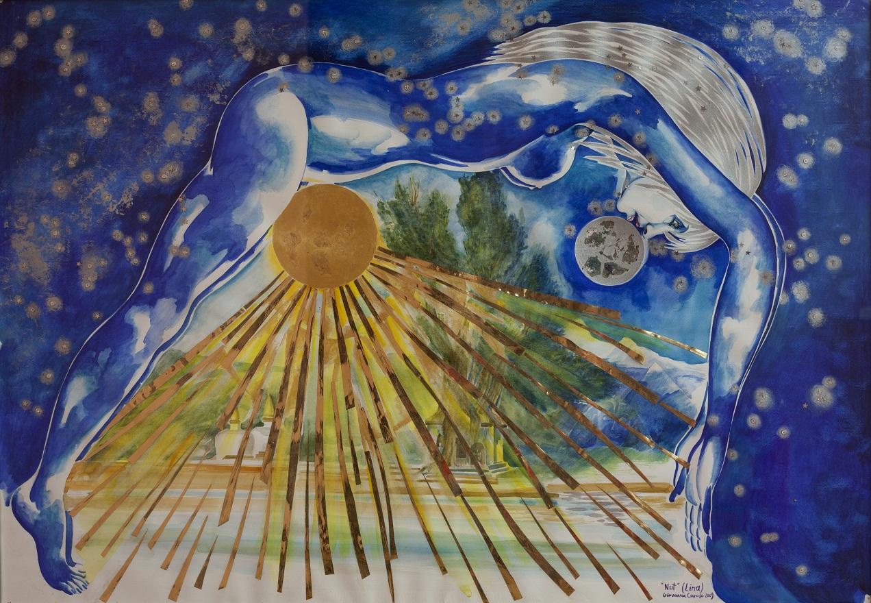 Nut, Watercolor, 78×98 cm