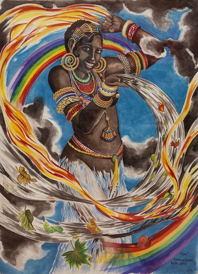 Oya, Watercolor, 56×76 cm